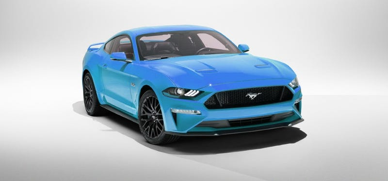 Illustration for article titled What if...The 2018 Mustang Came in Grabber Blue?