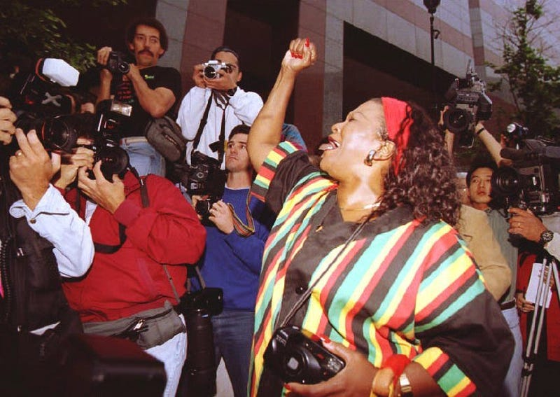 Los Angeles reacts to Rodney King verdict. (Getty Images)