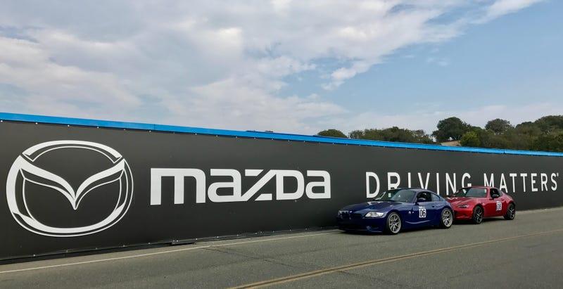 Parting shot over Mazda Raceway Laguna Seca