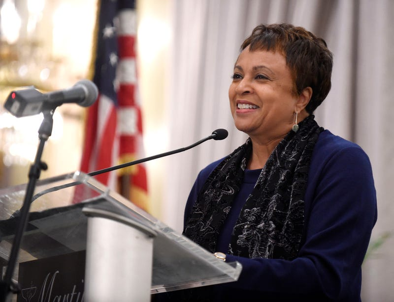 Carla Hayden, in a January 2015 file image, was confirmed by the Senate on July 13, 2016, to head the Library of Congress.Dave Munch/Baltimore Sun/TNS via Getty Images