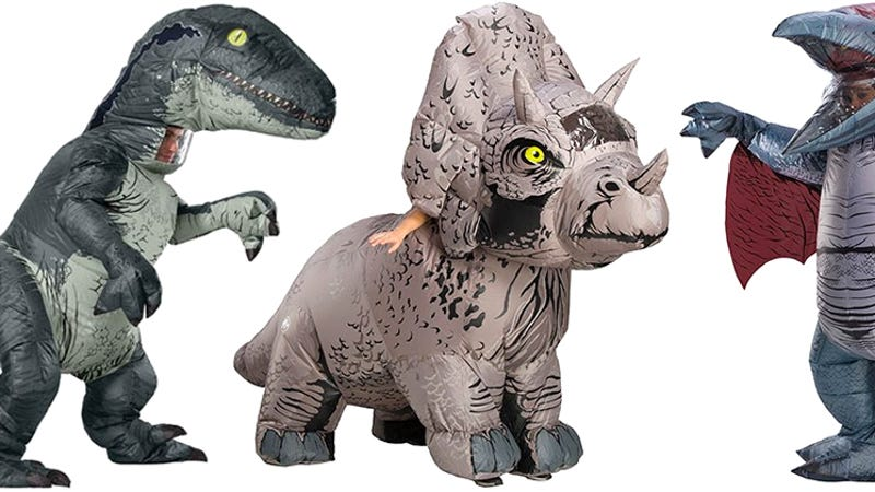 photo image Inflatable Jurassic World Costumes Put You Inside a Dinosaur Without Being Eaten