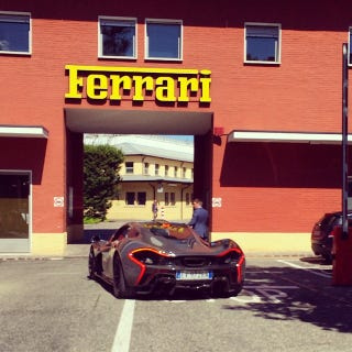 Illustration for article titled McLaren P1 Crawling into Ferrari's Home...