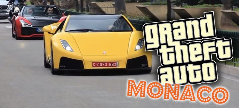 Illustration for article titled The Mega Exotic Cars Of Monaco Are Ripped Out Of Grand Theft Auto