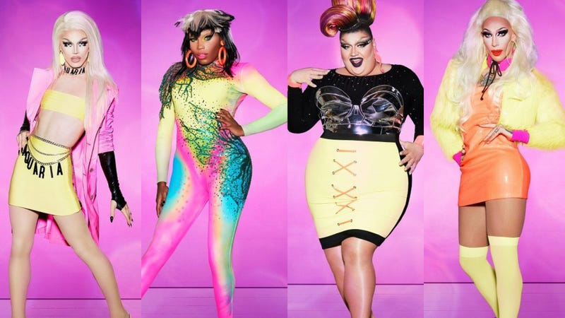 Drag Race finalists, from left: Aquaria, Asia O'Hara, Eureka O'Hara, Kameron Michaels