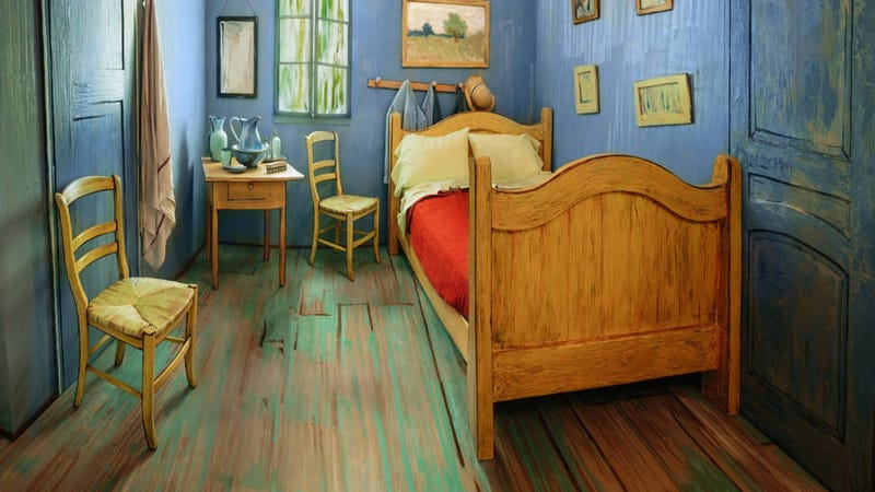 Illustration for article titled You Can Now Sleep In This Trippy Airbnb Bedroom Based on a Van Gogh Painting