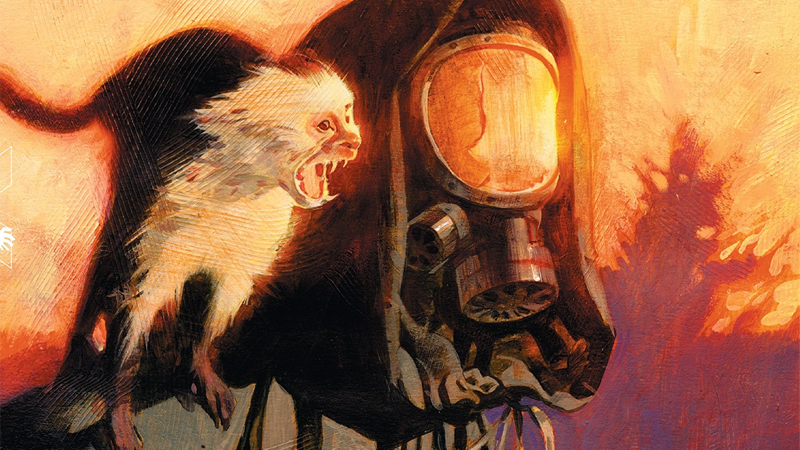 Yorick and Ampersand on the cover of the Absolute Edition of Y: The Last Man.