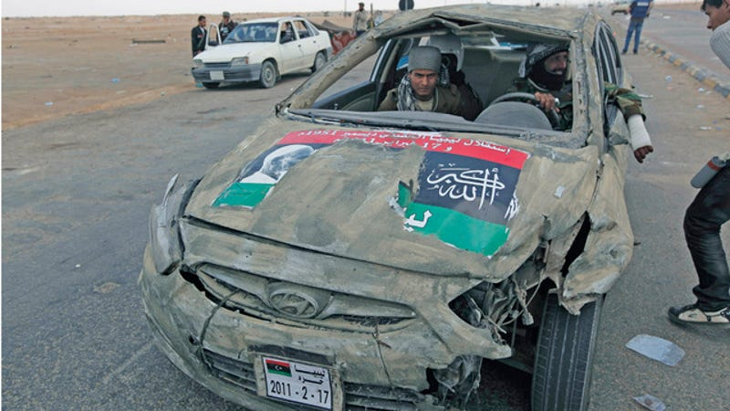 Illustration for article titled New Hyundai Accent built Libyan rebellion tough