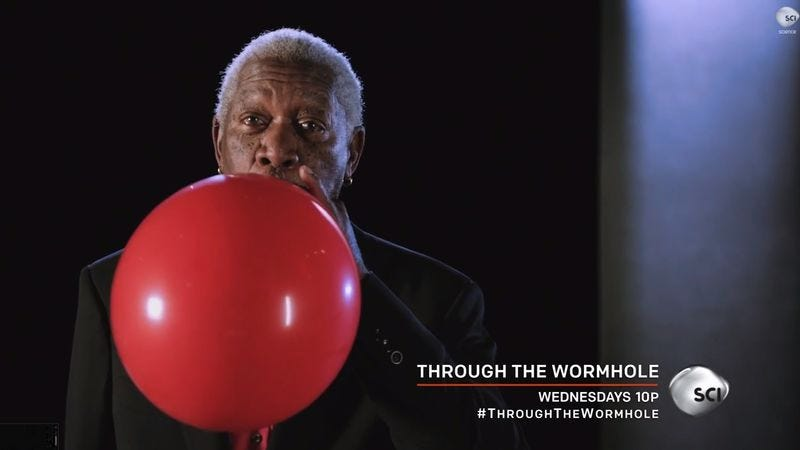 Illustration for article titled Here's what Morgan Freeman sounds like on helium