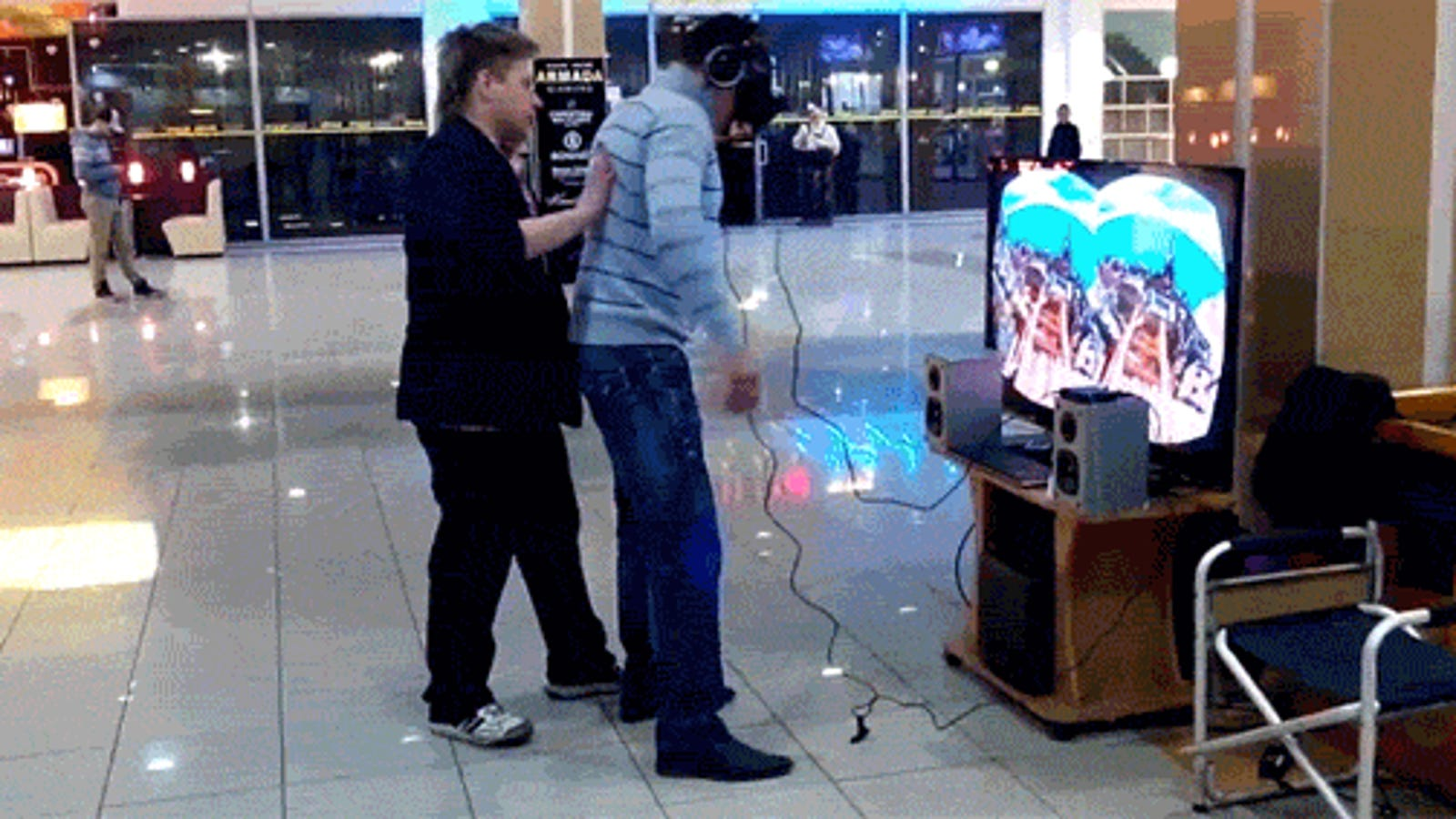 A Bunch of People Wearing Oculus Rifts and Falling on Their Butts