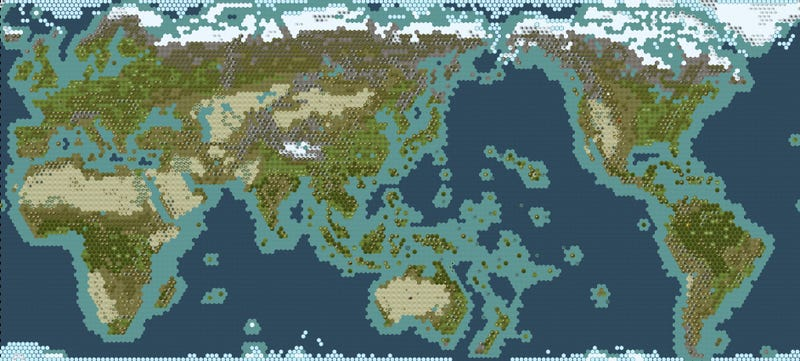 Make Your Civ V Game A Little More Realistic – Civ 5 World Map