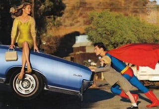 Illustration for article titled New Superman Fashion Spread Will Give You The Power Of Projectile Vomit