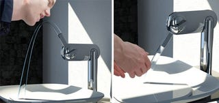 Illustration for article titled Koehler Fluid Faucet Transforms Into a Drinking Fountain
