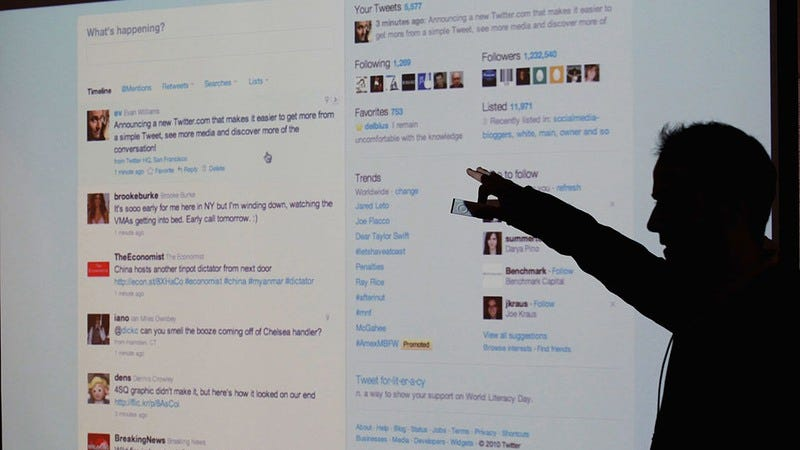 Twitter, where someone is probably talking shit about you right now. Photo: Justin Sullivan / Getty