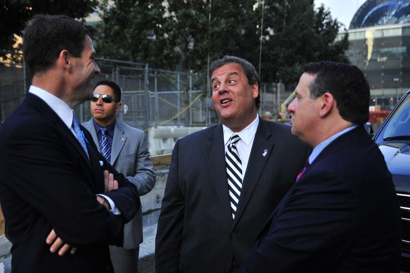 From left: Bill Baroni; Chris Christie; David Wildstein. Photo: Port Authority NY/NJ