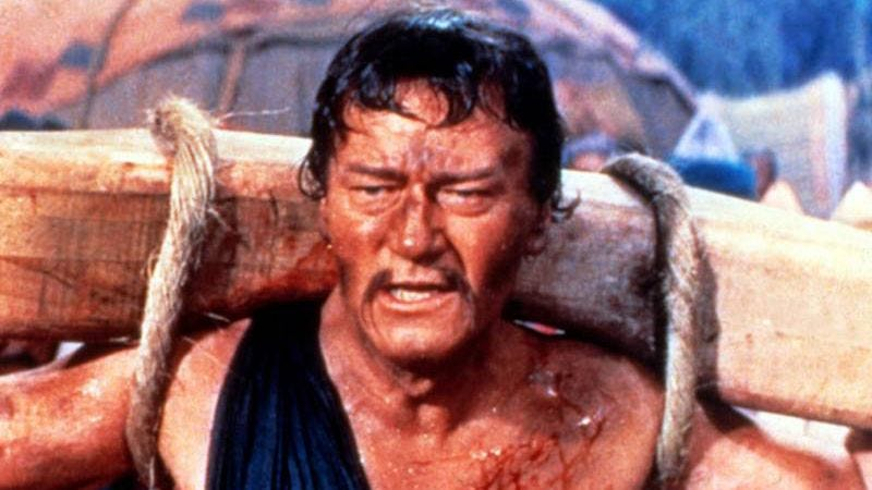 John Wayne as Genghis Khan in The Conqueror