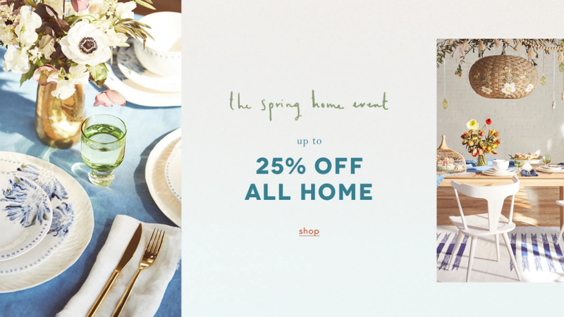 25% Off Home | Anthropologie