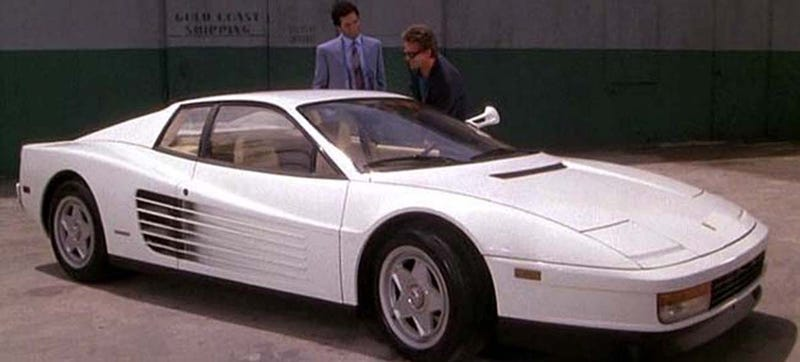 Illustration for article titled Spend All Your Cocaine Money On This Honest-To-God Miami Vice Ferrari