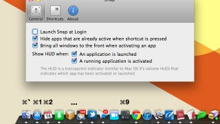 Illustration for article titled Snap Automatically Assigns Keyboard Shortcuts to Your Dock for Quick App Launching and Switching