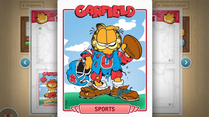 Illustration for article titled This is a Game About Collecting Garfield Trading Cards — Just Collecting Them