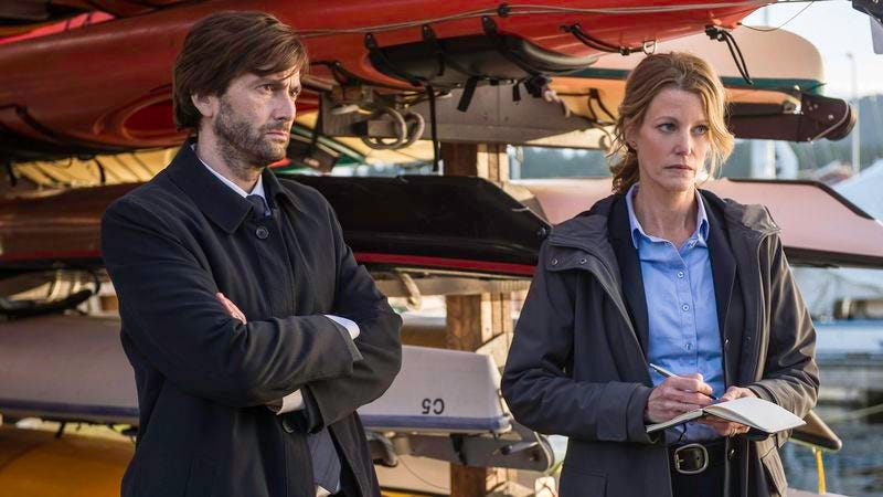 David Tennant and Anna Gunn in Gracepoint (Fox)
