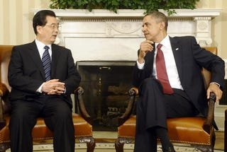 President Obama and his counterpart Hu Jintao