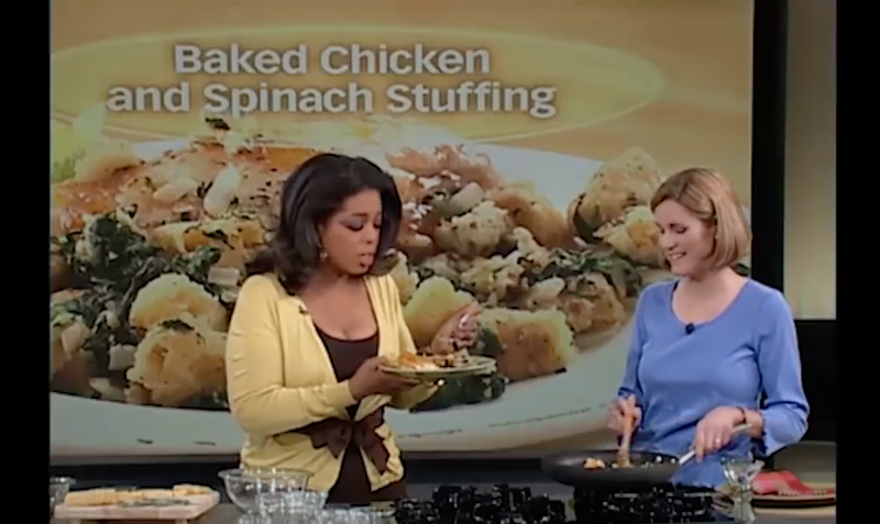 Illustration for article titled Oprah's Reaction to Eating This White Woman's Seasonless Chicken is All of Us