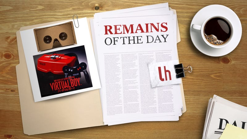 Illustration for article titled Remains of the Day: Experience Nintendo Virtual Boy With Google Cardboard