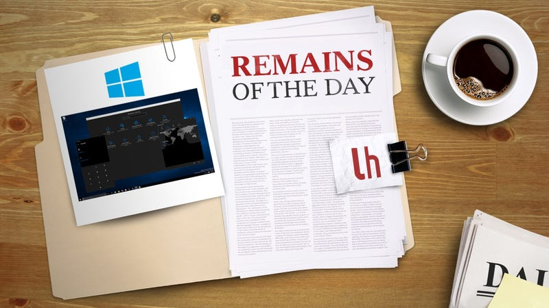 Illustration for article titled Remains of the Day: Windows 10 Anniversary Update Preview Now Available to Insiders