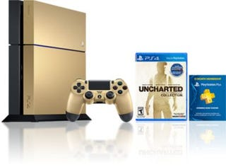 Illustration for article titled Do You Want This Gorgeous Gold PS4 Nathan Drake Collection Bundle? Do you like... Taco Bell?