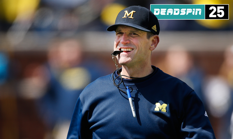 Illustration for article titled Deadspin 25: Michigan Will Suck, Because Even Jim Harbaugh Needs Time To Work A Miracle