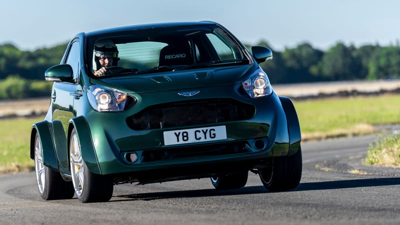 Illustration for article titled The Aston Martin V8 Cygnet Is Your Dream 430 HP City Car