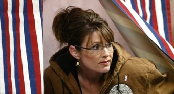 """Illustration for article titled Sarah Palin Fans Christened The """"Anti-Christers"""" • Gay Couples Make Good Parents"""