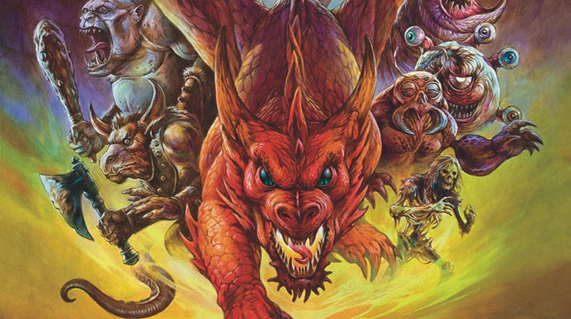 The poster art for Eye of the Beholder, designed by Jeff Easley.