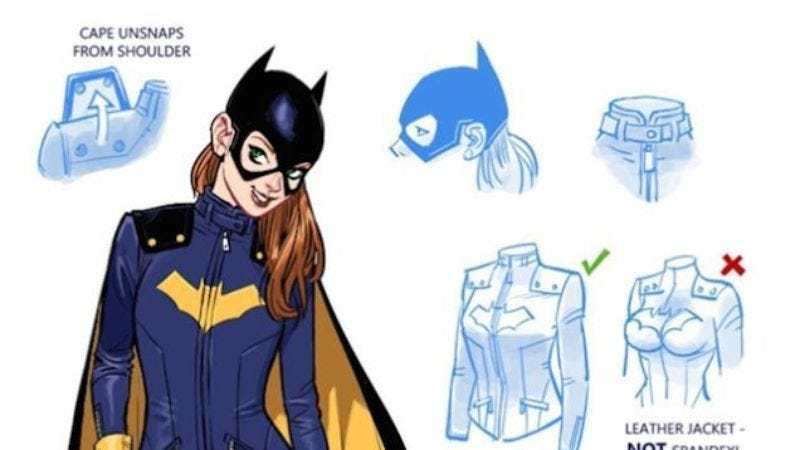 Illustration for article titled People are already drawing fan art of the new Batgirl costume