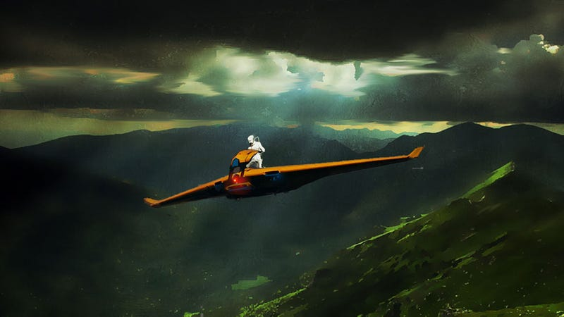 Illustration for article titled Freedom Is A Snazzy Orange Glider