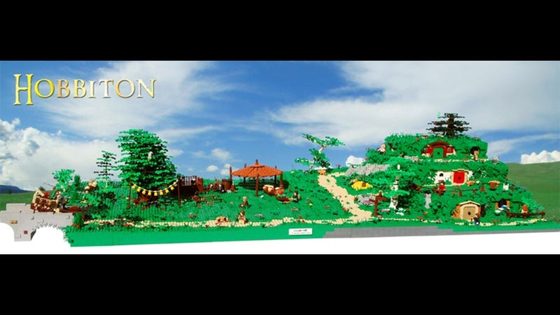 Illustration for article titled Enormous LEGO Hobbiton Model Goes Ever On And On...