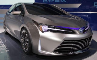 Illustration for article titled Did Toyota unveiled a prototype of the next Corolla in Shanghai without anyone noticing ?