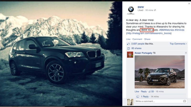 Illustration for article titled Even BMW Can't Tell Their SUVs Apart: Accidentally Called X3 An X5