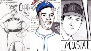 Illustration for article titled A Sampling From One Artist's Effort To Draw All 295 Members Of The Baseball Hall Of Fame