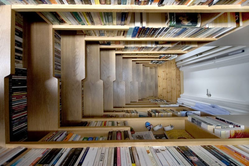 - Stairs Bookcase Actually Makes Me Want To Move To London