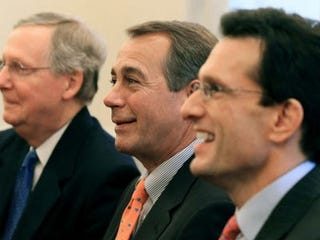 Republican leaders Mitch McConnell, John Boehner, Eric Cantor (Getty Images)