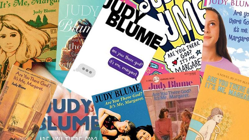 Judy Blume's book throughout the years. (Graphic: Nicole Antonuccio)
