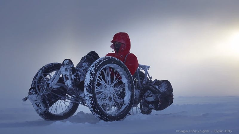 Illustration for article titled This Tricycle Is Headed Across the South Pole