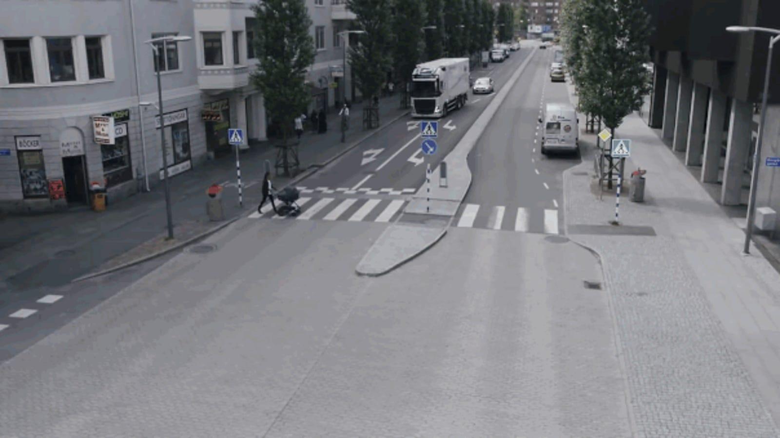 Así es el futurista sistema de seguridad vial con el que sueña Volvo