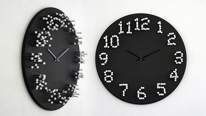 Illustration for article titled A Clock That Conceals The Time Until You Find Its Sweet Spot