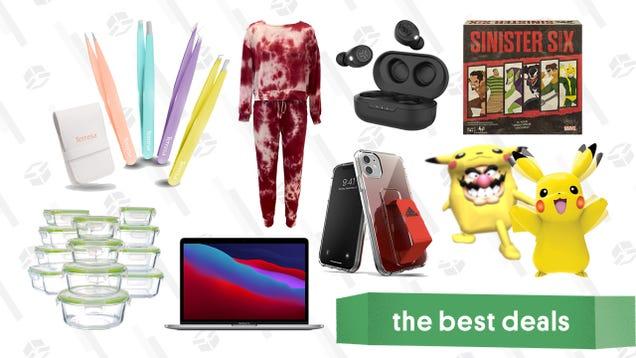 Thursday s Best Deals: MacBook Pro (M1), Meat Pajamas, My Partner Pikachu, Meal Prep Kit, Tweezer Set, Razer Laptops, JBuds Wireless Earbuds, and More