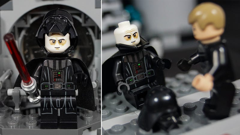 Illustration for article titled The new Vader Minifig has a two-piece helmet just like in the movies