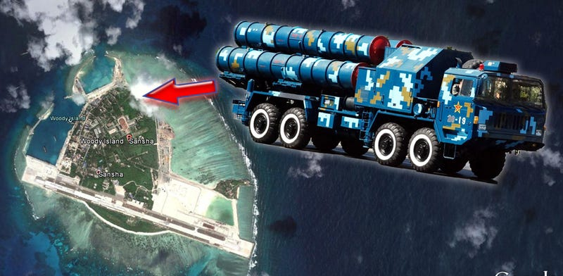 Illustration for article titled Surface To Air Missiles Arrive On China's Island Outpost In The South China Sea