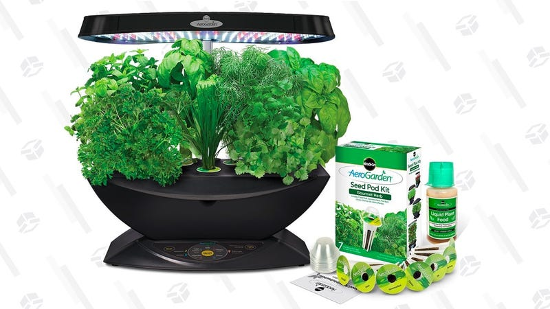AeroGarden 7 LED Indoor Garden with Gourmet Herb Seed Kit | $100 | Amazon
