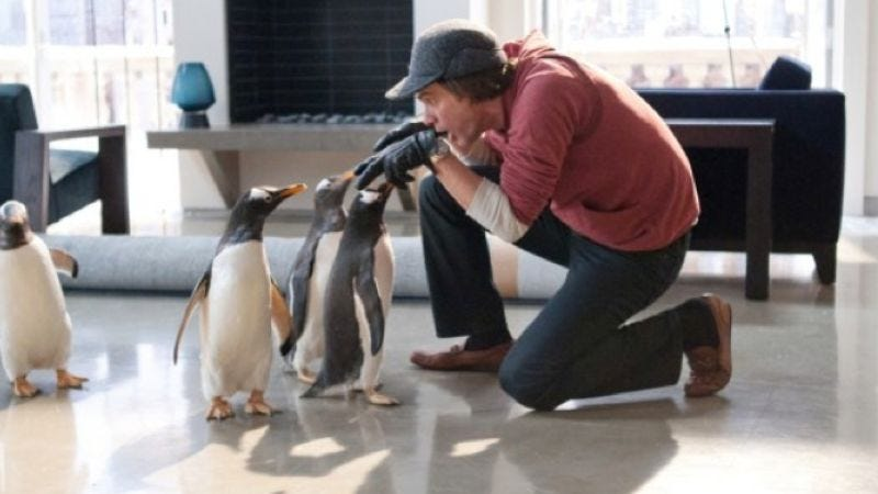 Illustration for article titled The trailer for Mr. Popper's Penguins: Scientifically formulated to provide the CGI-animals-dancing-to-Vanilla-Ice today's kids need